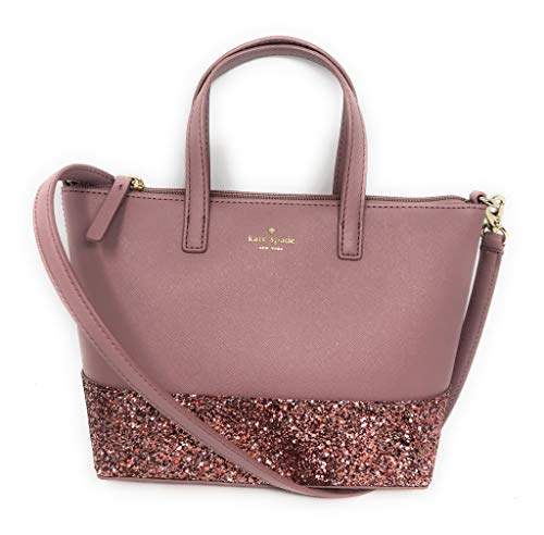 Kate Spade New York Ina Greta Court Glitter Crossbody Bag Top Handle Handbag Dusty -