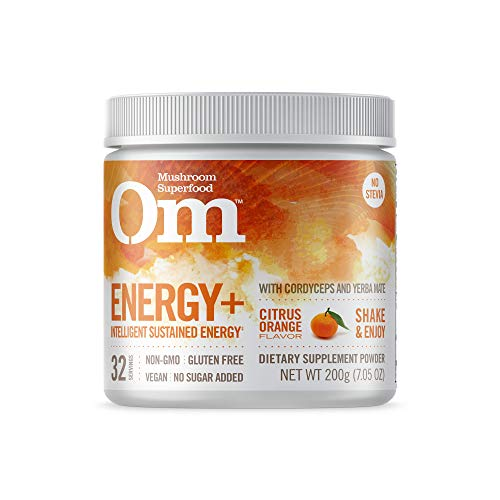 Om Organic Mushroom Nutrition Suppement, Energy with Cordyceps & Reishi, Citrus Orange, 100 servings, 7.14oz, 200 grams ()