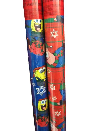 Nickelodeon ~ SPONGEBOB & PATRICK ~ Christmas Wrapping Paper 80 Sq. Ft. by Nickelodeon