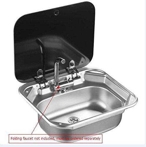 RV Caravan Camper Stainless Steel Hand Wash Basin Kitchen...