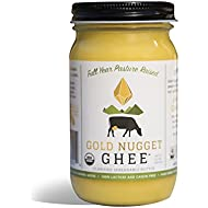 TRADITIONAL GHEE BY GOLD NUGGET GHEE USDA ORGANIC FULL YEAR PASTURE RAISED GRASS-FED BUTTER (8oz)
