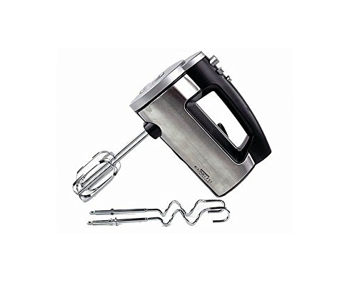 Home N Kitchenware Collection 6 Speed Electric Hand Mixer, Turbo Function, Chrome Dough Hooks, 250 Watts