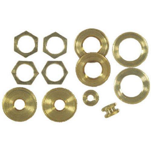 Angelo Brothers Lamp Locknuts Solid Brass (Lamp Nut)