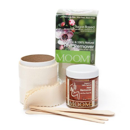 MOOM Organic Hair Removal kit with Tea Tree (Classic), 6-Ounce Jars (Pack of 2)