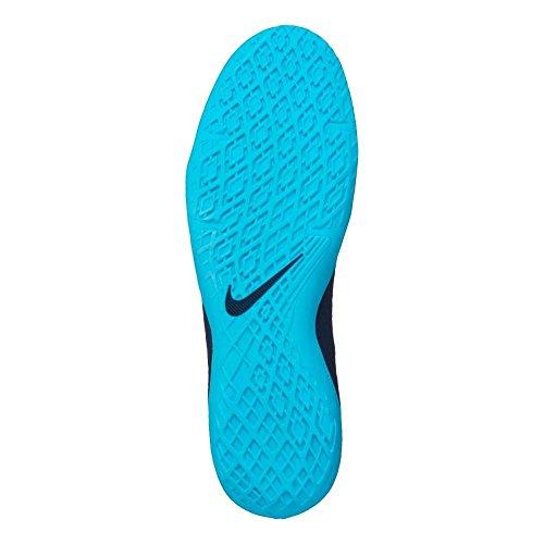 NIKE Men's Hypervenom Phelon III Dynamic Fit IC Indoor Soccer Shoes (Sz. 8.5) Obsidian, Gamma Blue