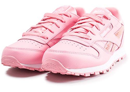 Cl Chaussures De Fille Rose Leather 000 Spring Fitness Reebok blanc OBTwnHqxB