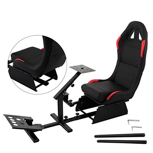 Mophorn Driving Simulator Seat Adjustable Driving Gaming Reclinable Seat with Gear Shifter Mount for PS2 PS3 PS4 Xbox Xbox 360 Xbox One