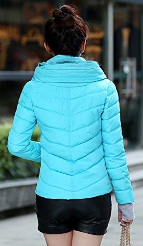 Abrigo Outwear Invierno Delgado BLACKMYTH Cálido Abajo Azul Capucha Chaqueta Básica Parka Mujer fWqnOqZ
