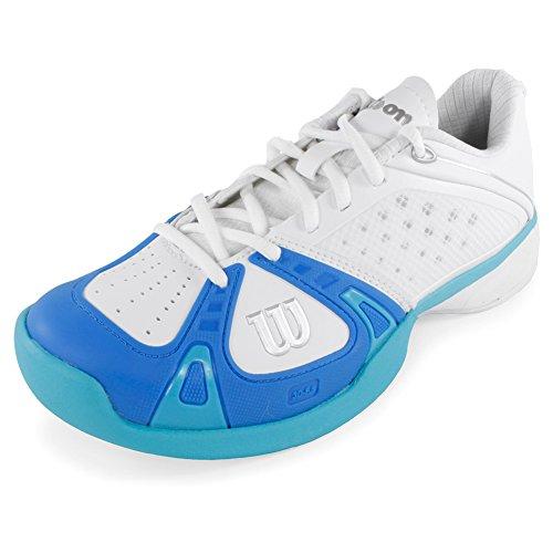 Wilson Rush Pro Women's Tennis Shoes White/Blue (9) (Womens Shoe Tennis Pro)
