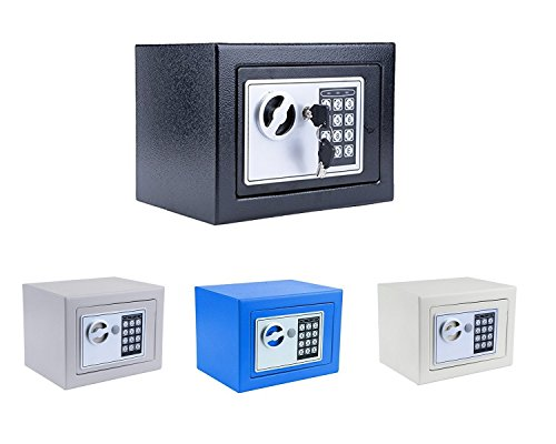 Kaluo Small Home Safe Security Safe Box Electric Digital Lock Wall Cabinet Safe for Jewelry Cash, 8.9