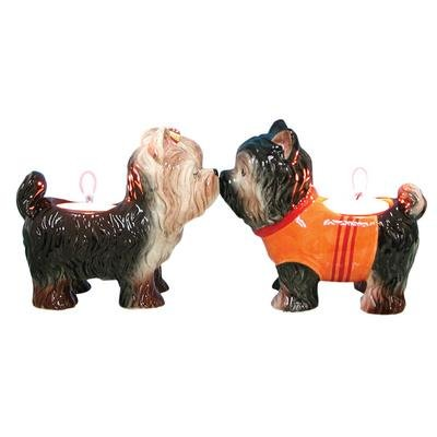 Mwah Yorkies Tealight Holders by Westland Giftware