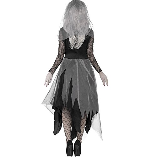 Scorpiuse Halloween Zombie Bride Costume Ghost Graveyard Corpse Bride Dress for Adult Women (L) by Scorpiuse (Image #3)