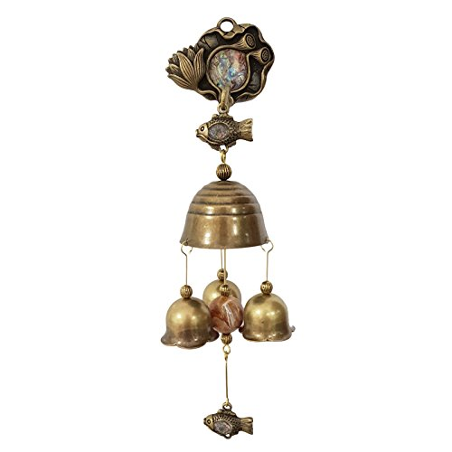 Vintage Lotus Shopkeepers Triple Bell Store Entry Door Chime Home Decorative Bell (Mother-of-pearl)