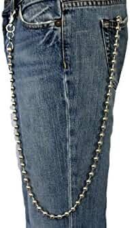 TFJ Men's Fashion Wallet Chain Big Metal Balls Extra Long 34 Inches
