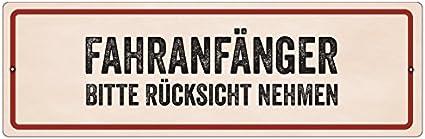 Interluxe Kunststoffschild Mit Saugnapf FahranfÄnger Bitte Rücksicht Nehmen Geburtstag Auto