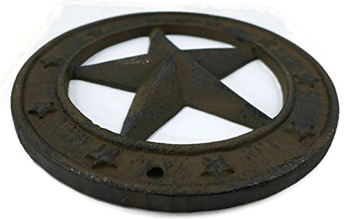 Cast Iron Texas Star Wall Plaque by Rustic IS (Image #1)