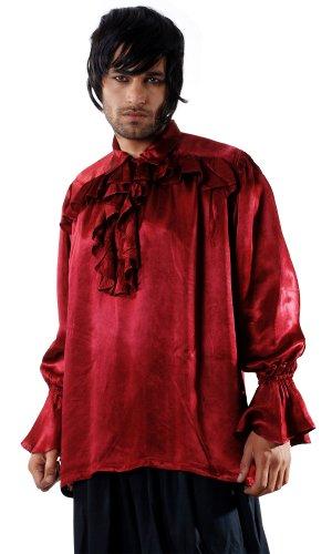 [Armor Venue Roche Brasiliano Pirate Shirt - Pirate Costume - Red XX-Large] (Brasiliano Costume)