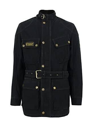a956d6a27a Belstaff Che Guevara Black Jacket XL: Amazon.co.uk: Clothing