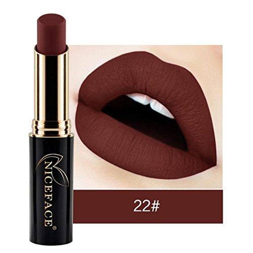 NewKelly Lip Lingerie Matte Liquid Lipstick Waterproof Lip Gloss Makeup 12 Shades (J)