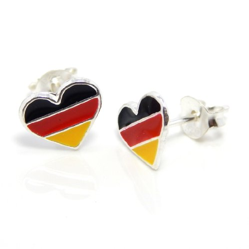 German Heart Flag (Pro Jewelry .925 Sterling Silver