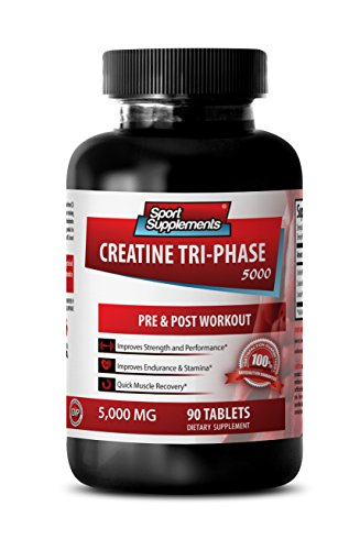 Creatine pills for women - Creatine Tri Phase 5000 Mg - Assist in energy production (1 Bottle - 90 Tablets)