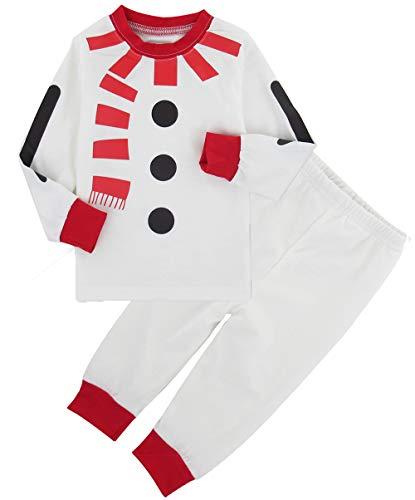 COSLAND Boys Christmas Pajamas Set Kids Snowman Costume (Snowman, 3T)]()