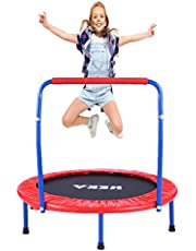 """HEKA Toddler Trampoline Mini Trampoline for Kids,36"""" Kids Trampoline with Handle,Safety Padded Cover,Foldable Small Trampoline Exercise Bounce for Toddler Indoor Outdoor Use Max Load 150lb"""
