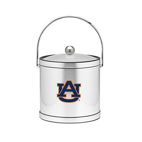 NCAA Auburn Tigers Brushed Chrome Mylar Ice Bucket with Acrylic Cover, 3-Quart