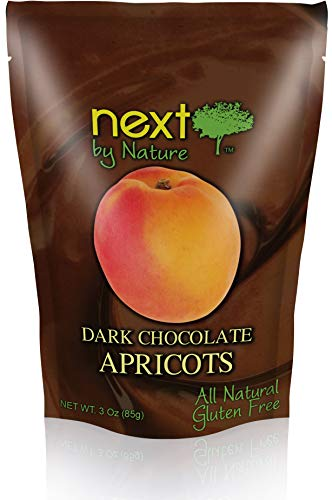 Next by Nature Dark Chocolate Apricots 3 Ounce (Pack of 12)