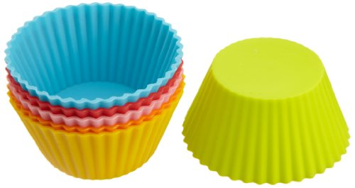 Casabella 3-Inch Standard Baking Cups, Set of 6, Assorted Colors
