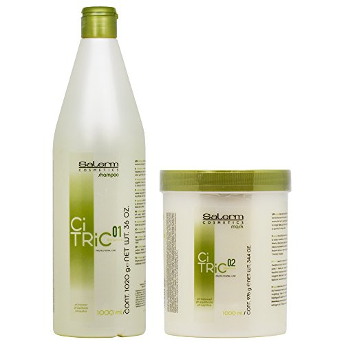 - Salerm CiTric Balancing Shampoo & Mask 1000ml Duo