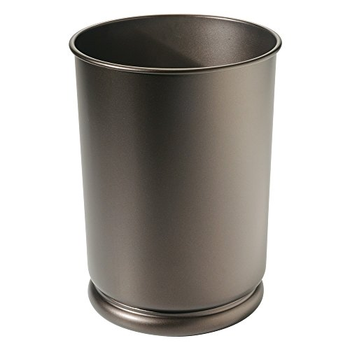Bronze Finish Bar Mahogany (InterDesign Olivia Tall Wastebasket Trash Can - Bronze)