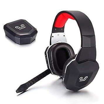 POO hg399 óptica auricular videojuegos inalámbricos a través del oído micrófono desmontable para tv wii pc mac PS3 PS4 xbox 360 xbox uno: Amazon.es: ...
