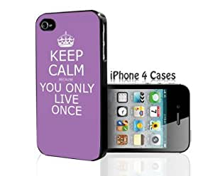 KEEP CALM because YOLO iPhone 4/4s case