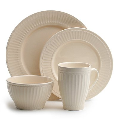 Coventry Athena Ivory 16-Piece Dinnerware Set Service for 4  sc 1 st  Amazon.com : athena dinnerware - pezcame.com