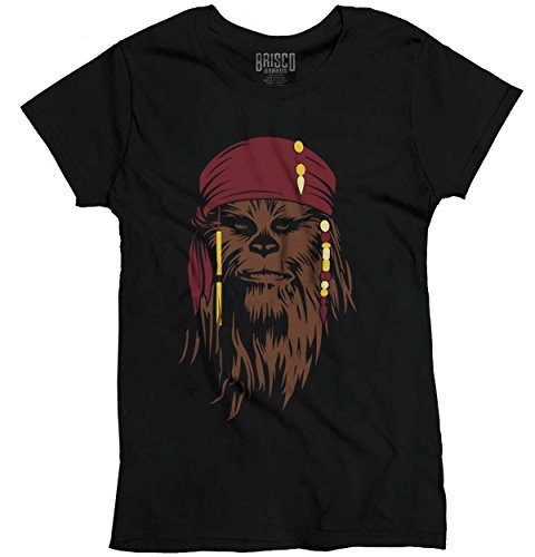 Star Wars Pirates The Caribbean Cool Funny Chewbacca Disney Ladies T-Shirt