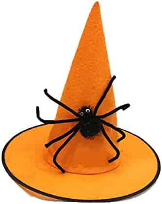 c634f2943d0 LUOEM Halloween Witch Hat Wizard Hat Masquerade Costume Dressing Up Cosplay  Role Play Stage Performance Accessory