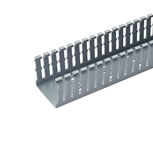 (Panduit F4X4LG6 Type F Narrow Slotted Duct, PVC, Light)