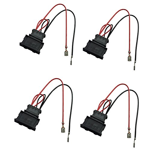 DKMUS 2 X Pairs Speaker Wiring Harness Wire Cable VW Passat Seat Golf Polo Speakers Adapter Connector Adaptor Plug by DKMUS