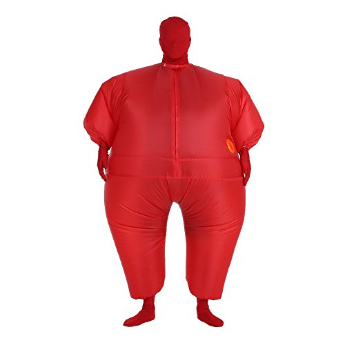 Full Body Fat Suit Costume (Anself Funny Inflatable Full Body Costume Suit Blow Up Halloween Party Fat Inflatable Jumpsuit Costume)