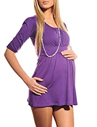 Purpless Maternity Pregnancy Tunic Top for Pregnant Women Casual for Mum to Be 5006