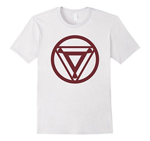 Mens Marvel Iron Man Arc Reactor Emblem Graphic T-Shirt Medium - Import It  All