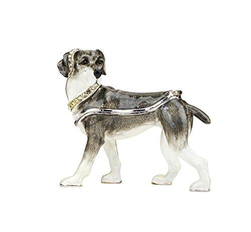 Jeweled Enamel Dog Box - 3