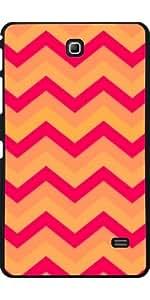 Funda para Samsung Galaxy Tab 4 (7 pulgadas) - Chevron Naranja Y Rojo