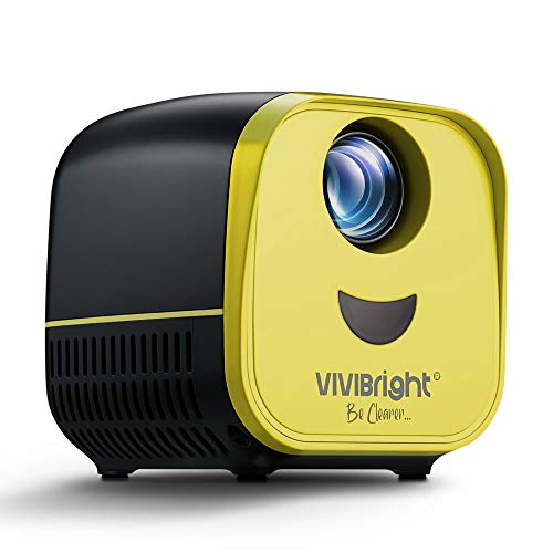 Mini Projector,VIVIBRIGHT Pico LED Projector L1 Supported Full HD 1080P,Portable Pocket Projector Compatible with PC,Laptop,USB,TF Card,Suitable for Home Theater,Movie,Games and Gift for Kids