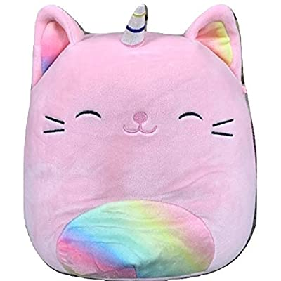 Squishmallow Kellytoy 8 Inch Sabrina The Pink Rainbow Tabby Cat Caticorn- Super Soft Plush Toy Animal Pillow Pal Pillow Buddy Stuffed Animal Birthday Gift Holiday: Toys & Games