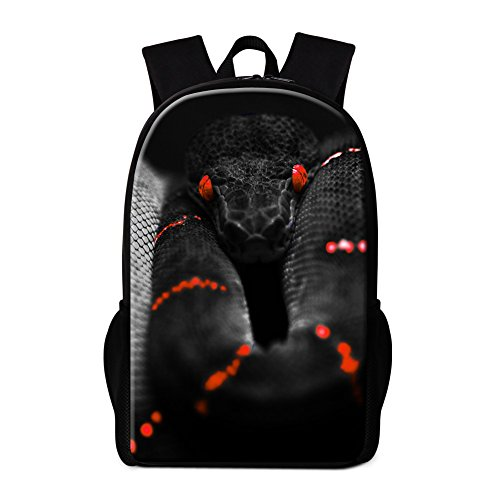 Generic Snake Printed School Backpack for Children Cool Outdoor Bags (Printed Snake)