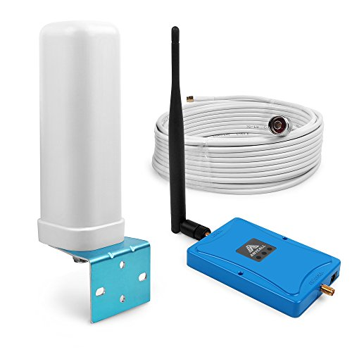 ANYCALL Cell Phone Signal Booster 850/1900MHz Dualband Voice And Data Boost Band2 Band 5 Signal Booster Amplifier Automatic Shut Down For Weak Bar Signal User (Angle+Omni antenna)