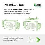 Sunco Lighting 6 Pack Double Sided LED Emergency