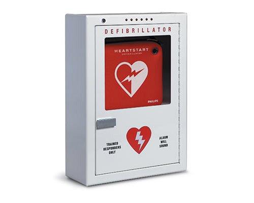 Cabinet Defibrillator, Premium, Wall Surface Mount Strobe & Alarm - PFE7024D by Philips